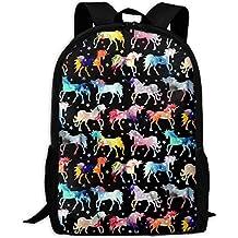 best& Vintage Rainbow Watercolour Galaxy Unicorns College Laptop Backpack Student School Bookbag Rucksack Travel Daypack