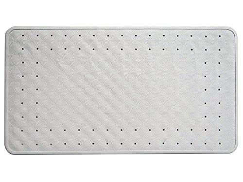 Salinka Natural goma lujo antideslizante alfombra de ducha y baño–no tóxico–odorless- látex y libre de PVC, uso universal–Ideal para hogares, Hospitales, asilos, hoteles, gimnasios–16x 28en.