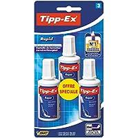 Tipp-Ex 912635 Rapid Correcteurs Liquides - 20ml, Blister de 3