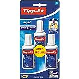 Tipp-Ex Flasche Rapid Korrekturflüssigkeit, Blister 3Stück