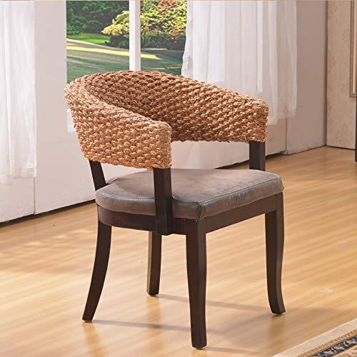 seeksungm Chair, Single Fashion rotin Armchair, Household Natural Handmade Leisure Wicker Chair (Single Piece), hc313