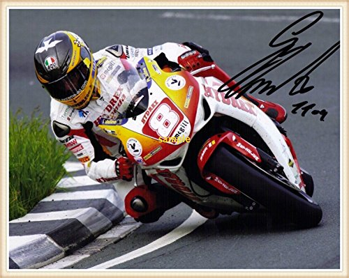 guy-martin-isle-of-man-tt-races-signed-autographed-print-pp-on-gold-frame-in-mint-condition