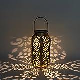 LEDMOMO LED-Solarlaternen, die Schattenbild-Solarleuchten-wasserdichte Hexagonlampe für Patio-Hof-Garten-Bahn im Freien hängen
