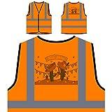 Festa Junina Neues Festgeschenk Personalisierte High Visibility Orange Sicherheitsjacke Weste e937vo