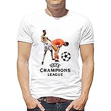 SpotApplick T Shirt Maglia Uomo Donna Cristiano Ronaldo 7 Champions Rovesciata Buffon Juventus Real Madrid (2XL)