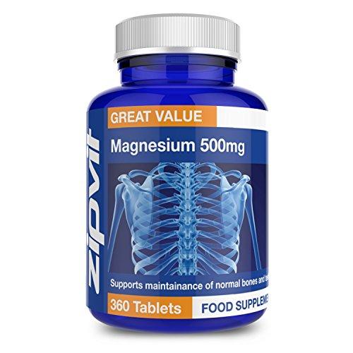 Magnesium 500mg   360 Tabletten   Unterstützt Muskel- & Knochenfunktion   12 MONATE VORRAT