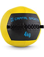 Capital Sports Epitomer • Medizinball • Wall Ball • Fitness Ball • Krafttraining • Ausdauertraining • Functional Training • vernähtes Kunstleder • griffige Oberfläche • Studio Qualität • verschiedene Farben • verfügbare Gewichte: 4 kg - 14 kg