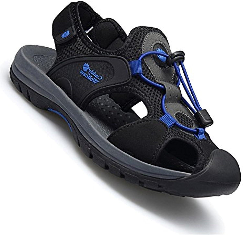 Huahua Baotou Infantiles De Verano Sandalias para Hombres Verano Calzado De Playa Fondo Blando Senderismo para