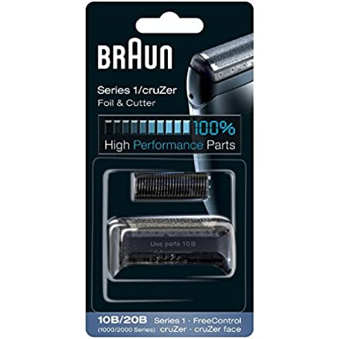 Braun 10B/20B - Recambio para afeitadora eléctrica, compatible con afeitadoras Series 1 y cruZer, color