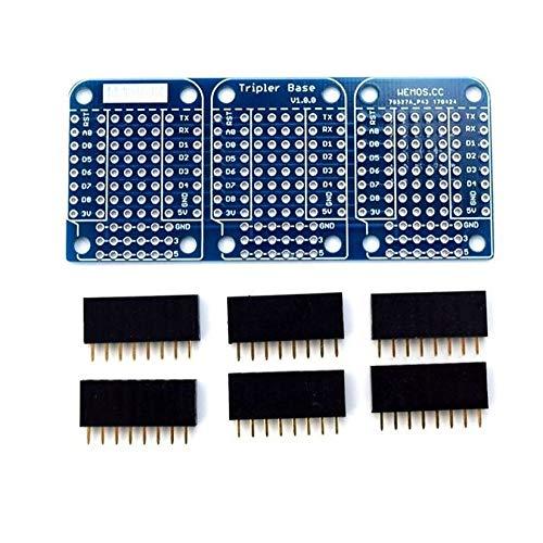 ZengBuks Hochwertige Triple Base für WeMos D1 Mini ESP8266 Dua Shield Board - Blau Shield Mini-taste