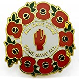 NEW RED POPPY WREATH LAPEL PIN ENAMEL BADGE all gave some, some gave all WW1 CENTENARY Remembrance Day UK SELLER