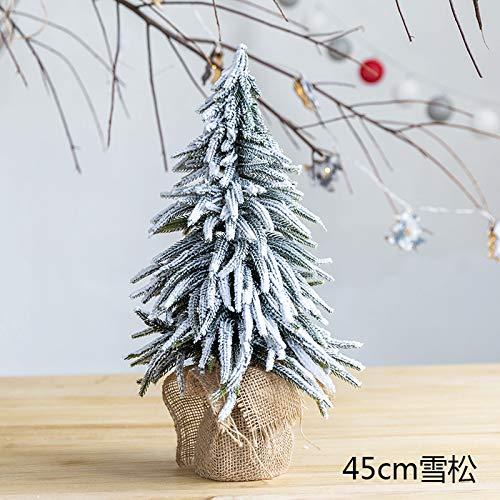 HAPPYLR Dekoration Schneespray Beflockung leinen zeder Mini Weihnachtsbaum zähler Fenster Desktop Dekoration Ornamente, 45 cm extra groß