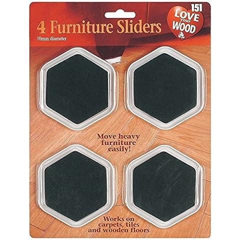 Patines para muebles (2 x 4 unidades, incluye imán gratuito)