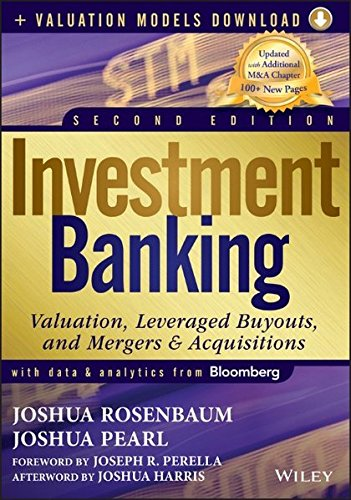 Investment Banking: Valuation, Leveraged Buyouts, and Mergers and Acquisitions + Valuation Models (Wiley Finance Editions)