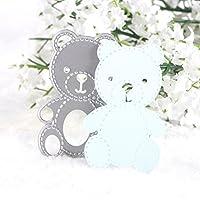 Calistouk Stanzschablonen aus Metall mit verschiedenen Mustern, zum Selbstgestalten und Dekorieren von Karten und Fotoalben Small Bear