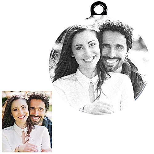 Amlion portachiavi personalizzabile con testo o foto,regali personalizzati per il compleanno, anniversario,idea regalo san valentino