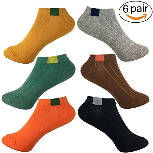 6 Pairs Casual Low Cut Ankle Socks for Girls,Women Breathable Short Crew Socks for Outdoor Sports