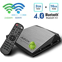 Android TV Box, GooBang Doo A1 Plus Android 7.1 Smart TV Box de 2GB RAM+16GB ROM con BT 4.0 Soporta 4K (60HZ)/2.4G + 5G Dual WiFi/Full HD/H.265
