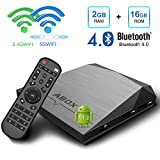 Android TV Box, GooBang Doo A1 Plus Android 7.1 Smart TV Box de 2GB RAM+16GB ROM con BT 4.0 Soporta 4K (60HZ) / 2.4G + 5G Dual WiFi/ Full HD/ H.265