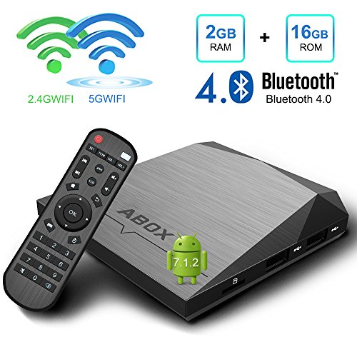 Foto de Android TV Box, GooBang Doo A1 Plus Android 7.1 Smart TV Box de 2GB RAM+16GB ROM con BT 4.0 Soporta 4K (60HZ) / 2.4G + 5G Dual WiFi/ Full HD/ H.265