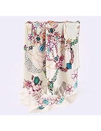Yarmy Dames de Soie châle roulées à la Main en Soie châle Foulard mûrier  Foulards en Soie 95 cm   95 cm Parfait… f75addbb8ac