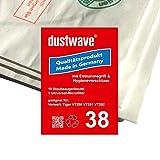 Sparpack - 10 Staubsaugerbeutel geeignet für Vorwerk Tiger 251 Staubsauger - dustwave® Markenstaubbeutel - Made in Germany + inkl. Microfilter