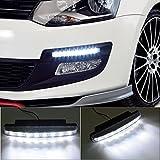 XCSOURCE® 2x Luz Faro Brillante Daytime Running DRL 8 LED Blanco para Coche Car Conducción MA134