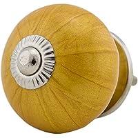 M/öbelgriff 6x Jay Knopf M/öbelknopf M/öbelknauf,M/öbelkn/öpfe Vintage Keramik Porzellan ART DECO 16009-E 066 JKGH goldgelb gelb ocker