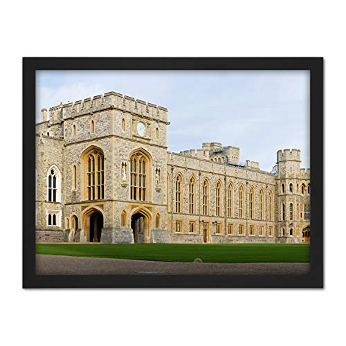Iliff Windsor Castle Upper Ward Quadrangle Panorama Photo Artwork Framed Wall Art Print 18X24 Inch Schloss Krieg Fotografieren Wand