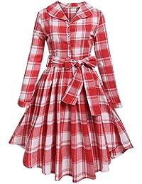 Rot kariertes kleid damen