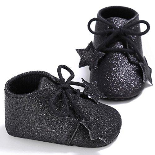 Igemy 1Paar Kleinkind M盲dchen Krippe Schuhe Neugeborene Blume Soft Sohle Anti Rutsch Baby Sneakers Black