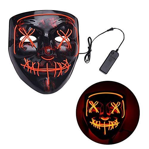 Rstant Halloween Maske Light Up V Maske LED Camouflage Scary Maske für Halloween Festival Weihnachten, Fake Masquerade Awesome