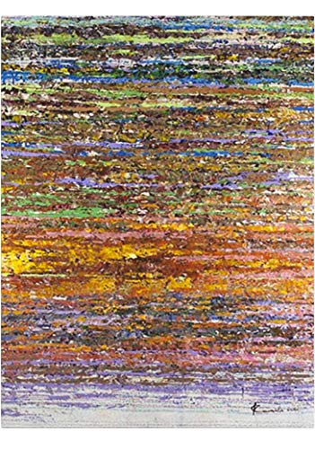 KunstLoft® \'Nie den Faden verlieren\' in 75x100cm | Leinwandbild handgemalt | Abstrakt Braun Bunt | signiertes Wandbild-Unikat | Acrylgemälde auf Leinwand | Modernes Kunstbild | Original Acrylbild