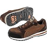 Puma 643010–421–46Sicherheit Schuhe DIN Barani Low S1P HRO SRC, Größe 11, Braun/Weiß/Orange