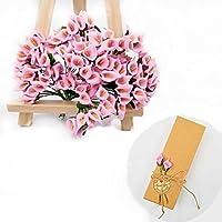 93758ee97 JZK® 144 Espuma rosa calla lily lirios pequeña flores artificiales para la  artesanía caja de