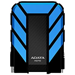 ADATA Dash Drive Durable HD710 Portable External Hard Drive, Blue, 1TB