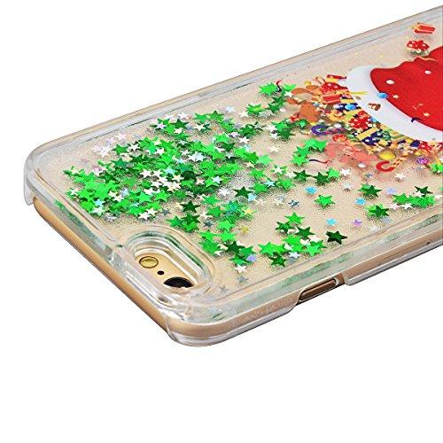 GrandEver Coque Dure PC pour iPhone SE iPhone 5S iPhone 5 Housse Glitter Briller Sable Étoiles Paillettes Etui Slim Cas Plastique Rigide Back Cover Haute Qualité Case Couverture Anti-Choc Anti Rayures Chaussette de Noël