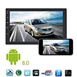 Autoradio, mit Android 8.0, 7'' Touchscreen Bildschirm, GPS Navi, Bluetooth Freisprecheinrichtung, Octa Core, MirrorLink, USB/TF, OBD 2, DAB+, 2 DIN Auto,Lenkradsteuerung,WIFI Mit 16 GB Speicherkarte