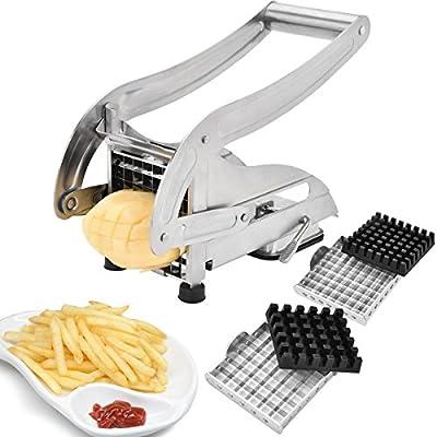 Sopito Coupe Pomme de Terre Acier inoxydable Coupe frites Coupe Patate verser Fait maison chips et Frites