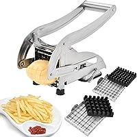 Sopitp - Cortador de fritos franceses, Acero Inoxidable, no plástico, para Patatas caseras