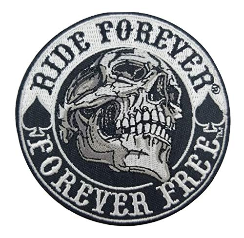 er Forever Free Skull Embroidered Cloth Iron On Patch ()