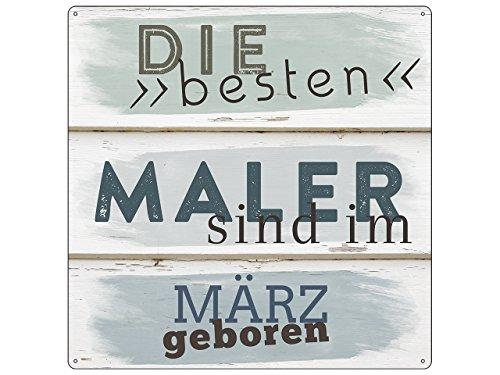 Interluxe 20x20cm METALLSCHILD Türschild DIE Besten Maler März Anstreicher Arbeit Beruf Kollege