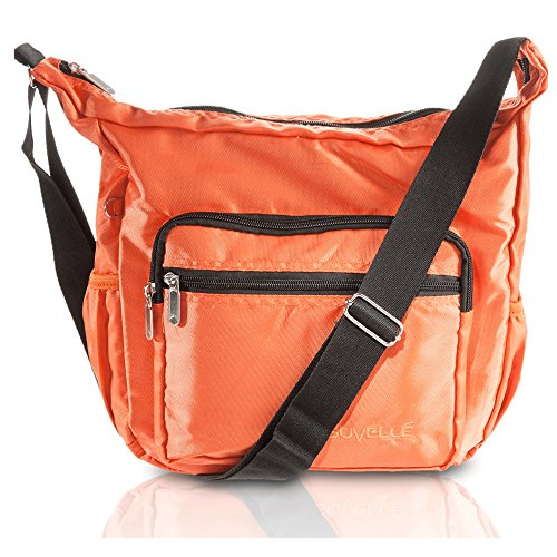 SUVELLÉ Lightweight Hobo Travel Everyday Crossbody Bag Multi Pocket Shoulder Handbag 9020