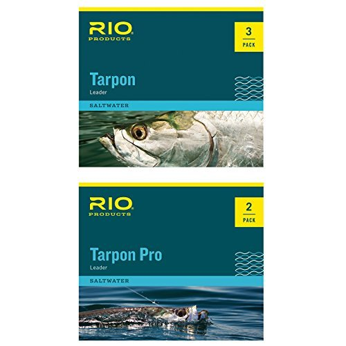 RIO Pro Tarpon Tapered Fly Fishing Leader 30Lb Class 60Lb Fluorocarbon Shock by Rio Brands