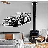 Wand-Dekor-Abziehbilder für Wände die Wand-Vinylhauptküche-Dekor-Geschenk-Liebhaber-Wand-Kunst-Aufkleber für das wasserdichte Wohnzimmer Sportwagen Luxus 42x82cm