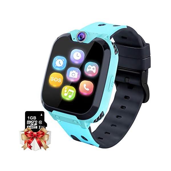 Reloj GPS Niños Smartwatch Phone - Reloj de Pulsera Inteligente con Ubicación GPS LBS Reloj con Call Voice Chat SOS… 1