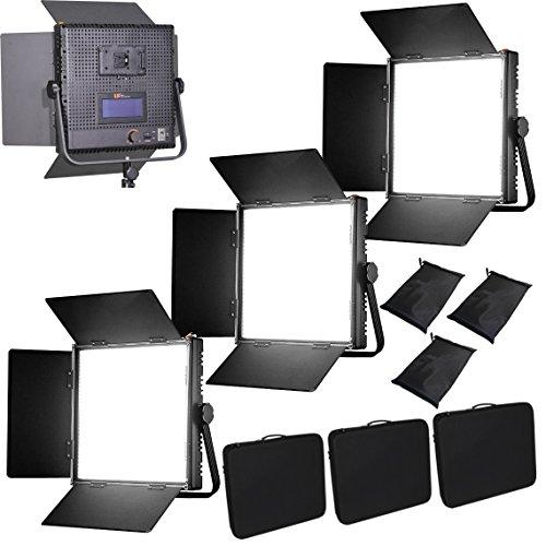 HWAMART ® (3x1024AVL) KIT 3x 1024AVL LED dimmerabili pannello V-Mount schermo piatto LCD Touch LED Video Studio di illuminazione 4 riprese
