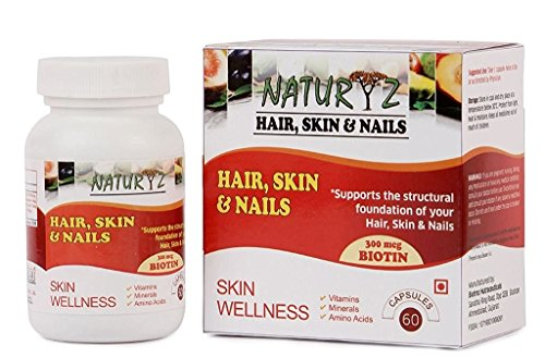 Naturyz Biotin Hair, Skin & Nails complete Multivitamin with Amino Acids - 60 Capsules
