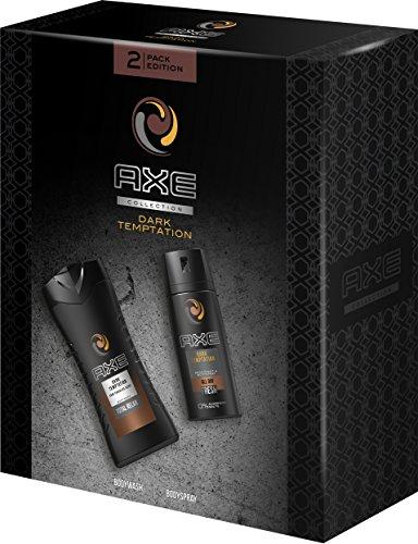 AXE Geschenkset Dark Temptation (Bodyspray 150ml + Duschgel 250ml), 2er Pack (2 x 400 ml)