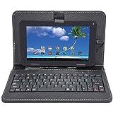 IKALL Unic U1 (512+4Gb) Dual Sim (3G+Wigi) Calling Tablet With Keyboard Case Cover - Black